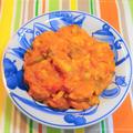 100皿シチュー 88皿目 鶏もも肉とピーマンのスパイシートマトシチュー