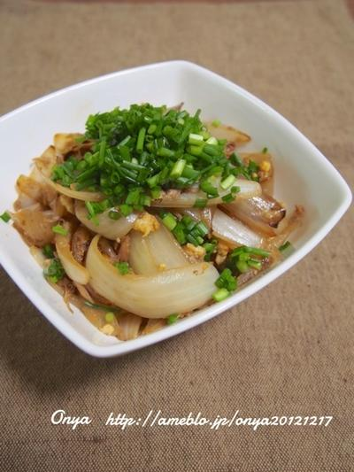 【簡単カフェ飯】10分で副菜1品♪簡単オススメ!シーチキンと玉ねぎ・卵のオイスタ炒め♪