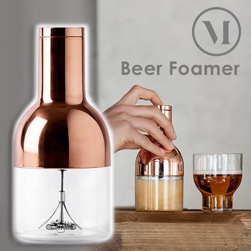 きめ細やかで濃密な泡を作る、ビール専用の泡立て器です。見た目も美しく、おしゃれなデザインもポイント。...