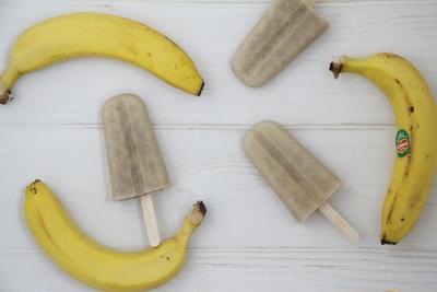 材料4つで超簡単!!豆腐バナナアイスバー*乳製品不使用
