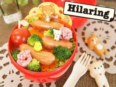 早弁用☆リラックマピックで簡単お弁当&わらじ納豆ハンバーグつくレポ☆