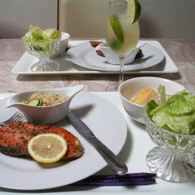 食べてキレイ♪美白ステーキ&ライム・シャンパンフィズ♪