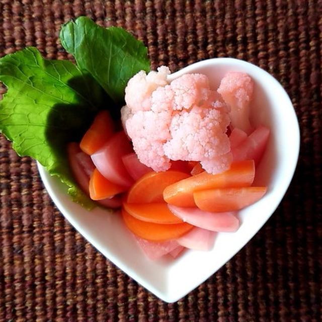 作り置き料理:冬野菜のピクルス