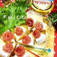 クリスマスに♪ケーキみたいな!?おつまみカマンベールチーズ♡