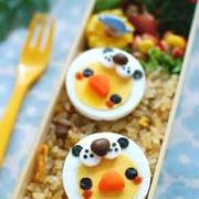 【簡単レシピ】輪切りゆで卵de動物さんの被り物デコ弁