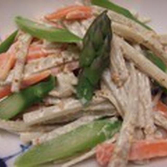 寒い日は鍋に限る 水炊き と ごぼうサラダ