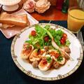 南国風カラフルなフライドエッグのサラダ with タイ風味✯梅ジャムドレッシング