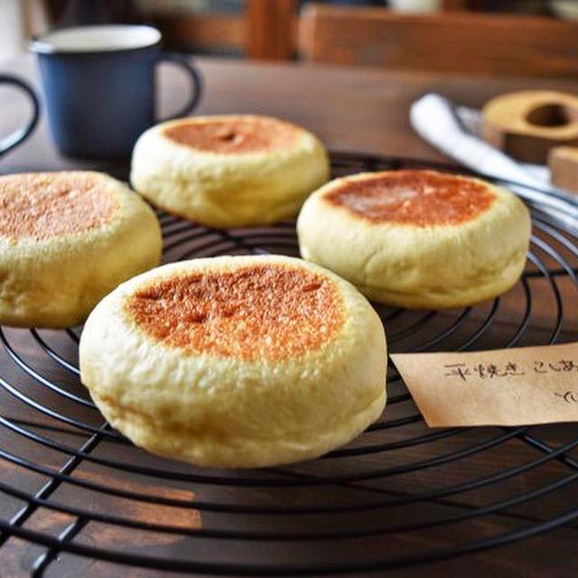 平焼きあんぱん(こしあん)*フライパン*オーブン・型不要