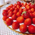苺のはちみつレアチーズタルト