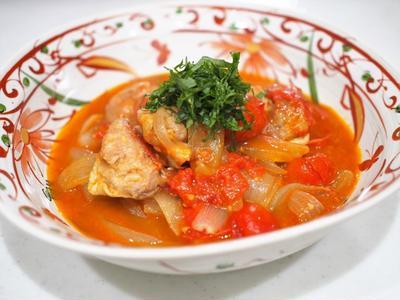 鶏のトマト味噌煮