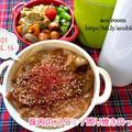 昨日は虹の日【次男弁当】豚肉のスタミナ照り焼きのっけ弁【晩ごはん】肉団子のスープ煮
