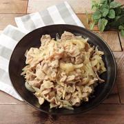 「冷凍下味★豚肉の味噌漬け」で豚肉と玉葱の味噌炒め