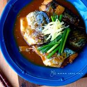 うちのサバの味噌煮。ご飯に合います♡