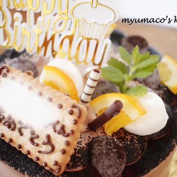 フルーツなしのチョコレートケーキ