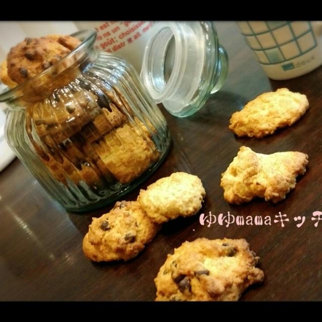 まぜて焼くだけ、卵不要、場合によっちゃ~砂糖も要らない♪めっちゃバナナなクッキー