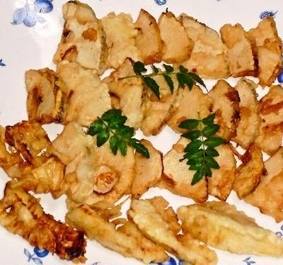 筍の天ぷら&肉団子のトマト煮