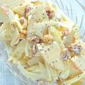 爽やかでフルーティでさっぱり〜の簡単おつまみおかず!セロリとリンゴと胡桃のサラダ。