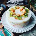 寒天ケーキ色々~♪と、新しい器に合わせて❤️ちょっぴりレトロなフルーツ牛乳寒天ケーキ♪