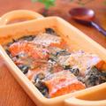 鮭とほうれん草の味噌ヨーグルト焼き♪ by みぃさん
