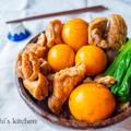 独り占め♡簡単おつまみ! 鶏モツとキンカンの甘辛煮