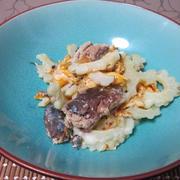 サバ缶で2つのレシピ ゴーヤとチャンプルと 龍田焼き