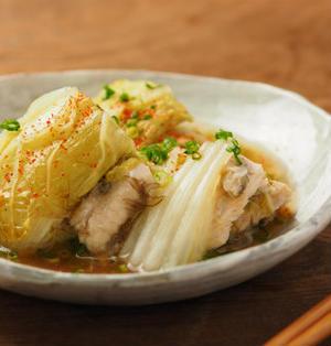 白菜と鶏むね肉の重ね蒸し