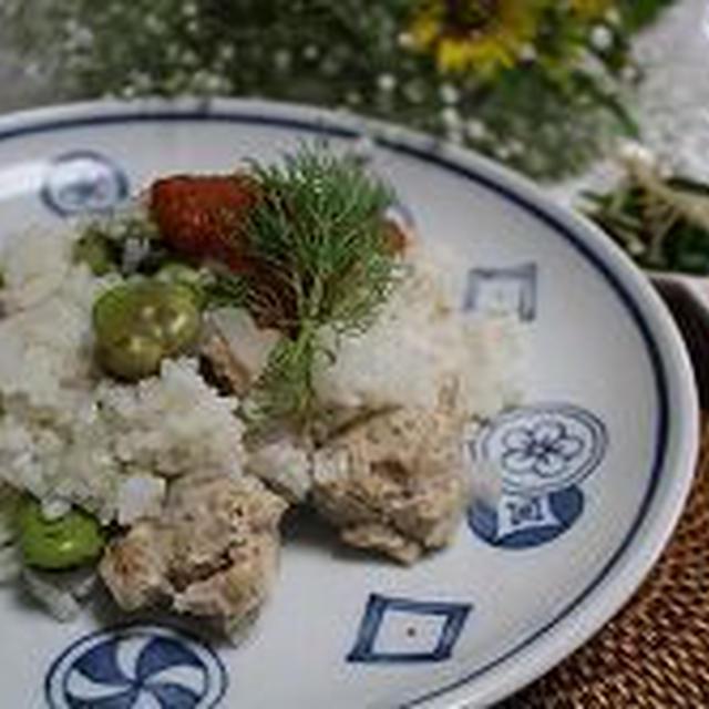 そら豆とディルでトルコご飯
