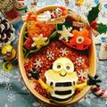 茹で玉ミニオンでクリスマス弁当