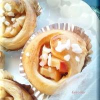 シナモンシュガーで林檎パン