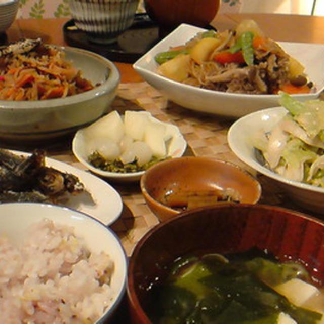 定番和食で美味しい晩ごはん。