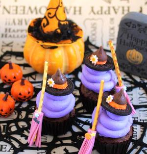 * ハロウィン ☆ 魔女のカップケーキ♪