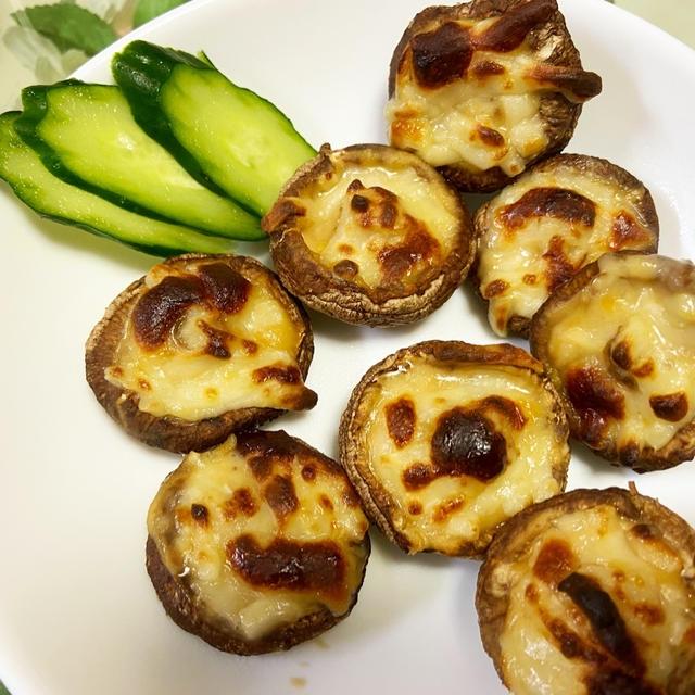スパイスアンバサダー☆椎茸のピリ辛味噌チーズ焼き