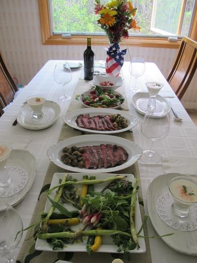 独立記念日のディナー