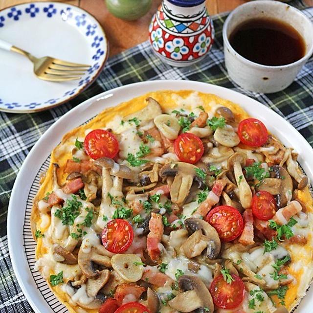 きのこ克服♪朝食にきのことベーコンチーズのスパイスオムレツ!スパイスブログ連載
