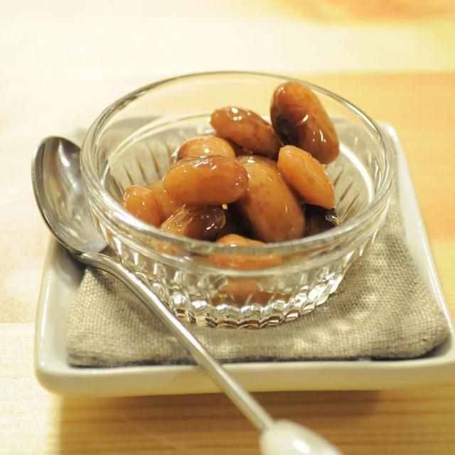 煮汁までおいしい☆とら豆のバルサミコ煮 & 幸せな紅茶
