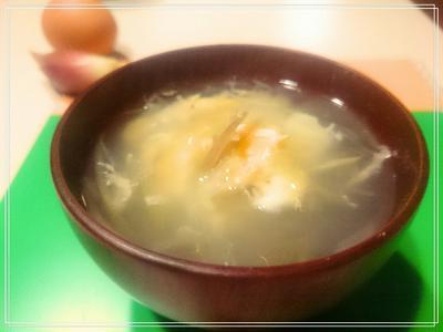 【Recipe:茗荷と玉子のスープ】体調がよろしくない日。