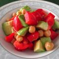 ビタミンACE+食物繊維!アボカドとひよこ豆のサラダ