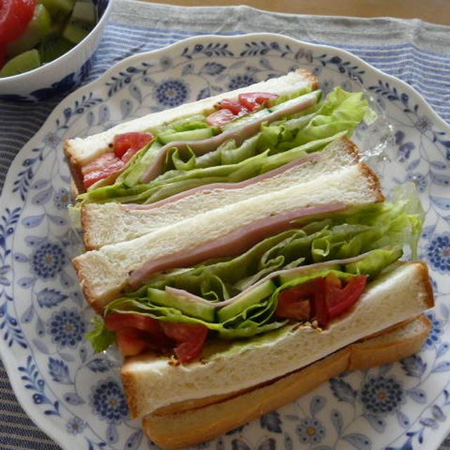 朝べジ~野菜たっぷり~ハムサンド