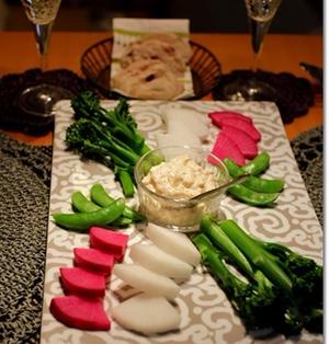 白ダシの明太子ディップ で 野菜たっぷり♪