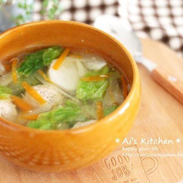 里芋のねっとり感がたまらない*味付け1つ!簡単優しい肉だんごのスープ*