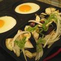 トリプルパンで二人分朝ごはん!焼肉のたれで楽々ナス炒めレシピ☆