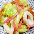 キャベツとちくわの麺つゆ紅生姜和え