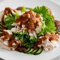茹で鶏の胡麻ヤンニョムのレシピ