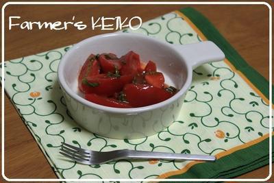 私の熱中症対策(再掲載) ~レシピは『一瞬で出来る簡単トマトサラダ』~