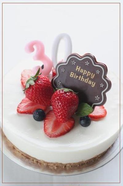 *お誕生日のレアチーズケーキ*
