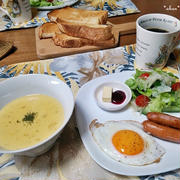 とうもろこしのスープで朝ごはん と びっくりな200個