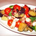 夏野菜とタコのオリーブオイル炒め
