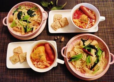 アニバーサリーステイプランの副産物~ふく缶太郎と小松菜の和風パスタ~