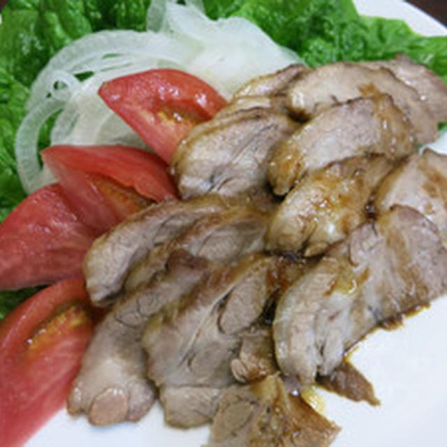ウォック(中華鍋)で煮豚