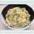 超スピード丼ぶり❗鮭フレークを使って【しゃけ玉丼】